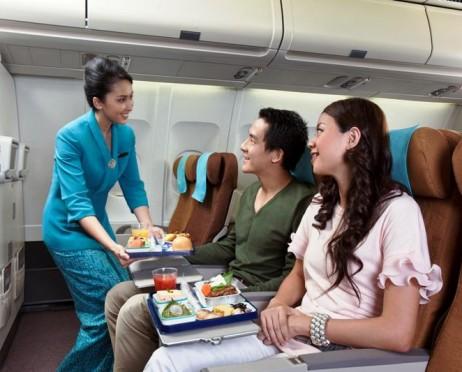 Kabin Kelas ekonomi Garuda Indonesia