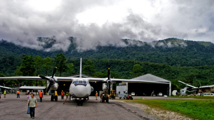 Foto Bandara di Tabubil  Tabubil, Papua New Guinea