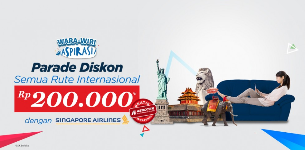 Promo Penerbangan Internasional