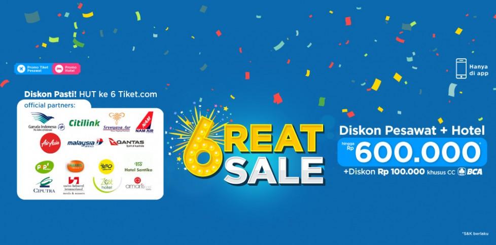 Promo 6reat Sale HUT Tiket.com