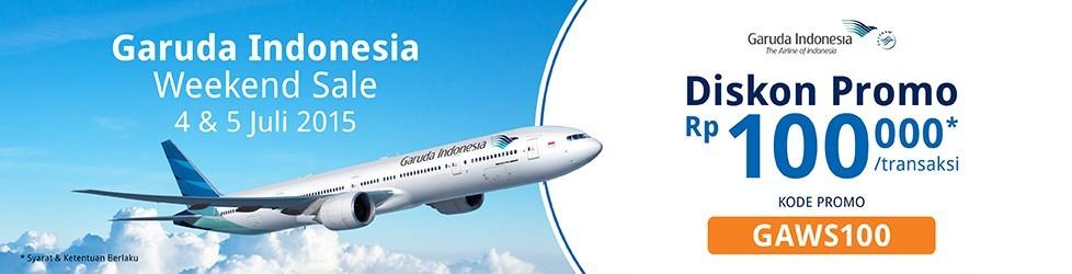 Promo Weekend Sale Garuda Indonesia