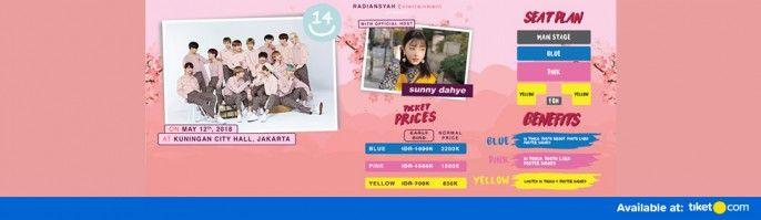 harga tiket 14U Live In Jakarta 2018