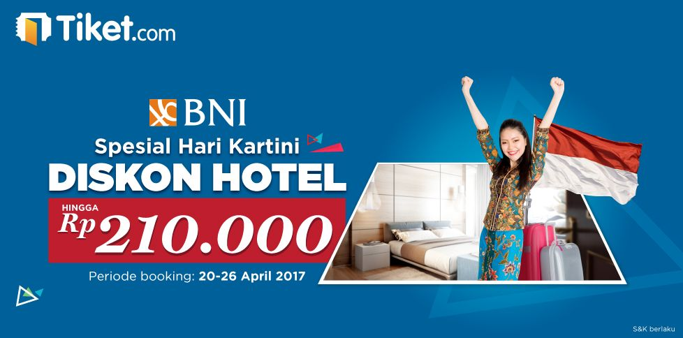 Promo Hotel Hari Kartini Bersama BNI Hingga 210 Ribu