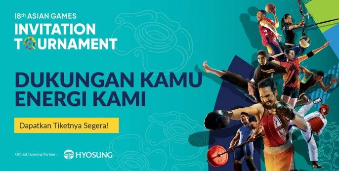 harga tiket 18th Asian Games Invitation Tournament Jakarta 2018
