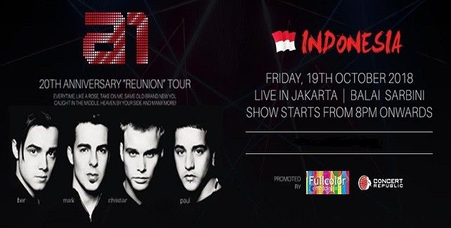 A1 20th Anniversary Reunion Tour Live in Jakarta