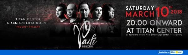 harga tiket An Intimate Night With PADI Reborn 2018