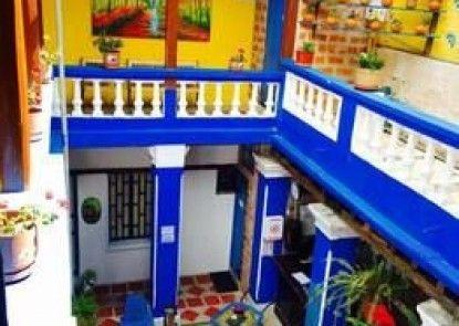 Blue Door Housing Old Historic Quito