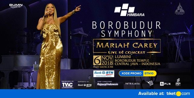 Borobudur Symphony Mariah Carey Live in Concert 2018 Promo BTN