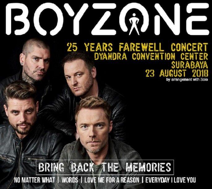Boyzone 25 Years Farewell Concert - Live In Surabaya 2018