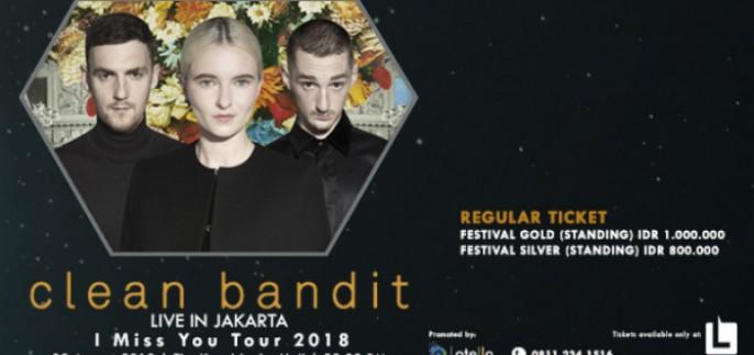 harga tiket Clean Bandit Live In Jakarta 2018