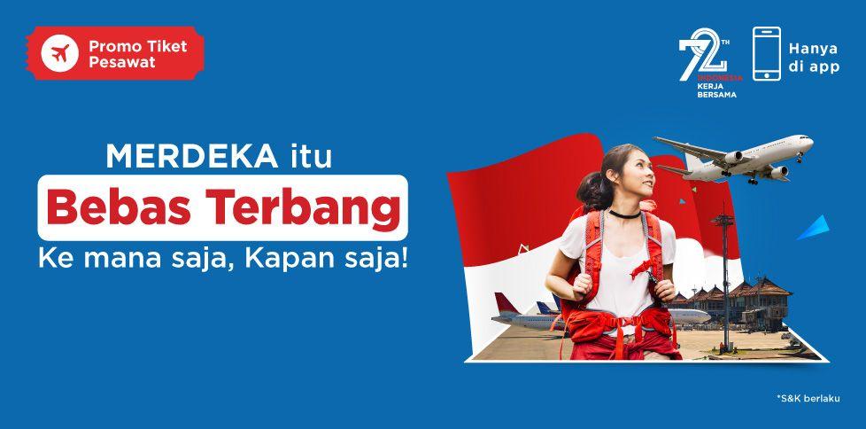 Promo Kemerdekaan Diskon Pesawat Hingga Rp 172.000