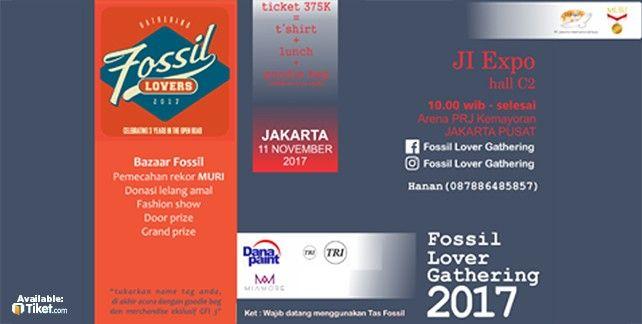 harga tiket Gathering Fossil Lovers 2017