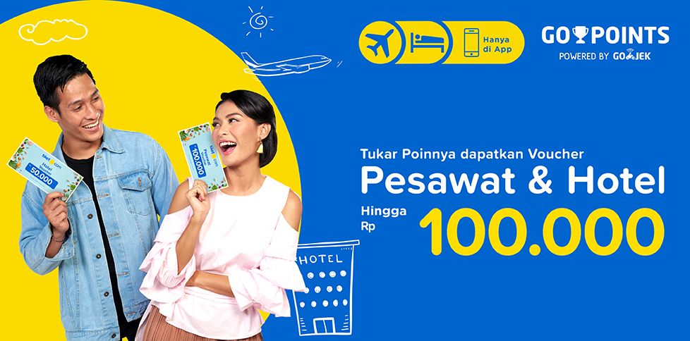 Promo Tiket Pesawat & Hotel Rp 100.000 - Go Points