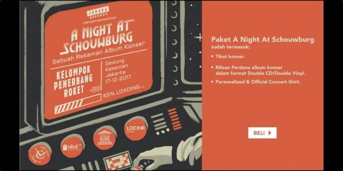 harga tiket Kelompok Penerbang Roket A Night at Schouwburg