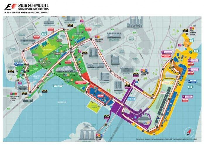 Lokasi Layout Formula 1 Singapore Grand Prix 2018