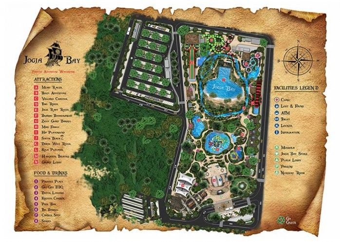 Lokasi Layout Jogja Bay Waterpark