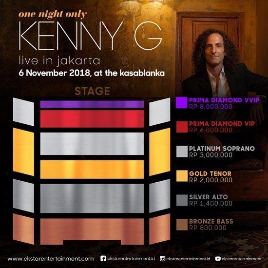 Lokasi Layout Kenny G Live In Jakarta 2018