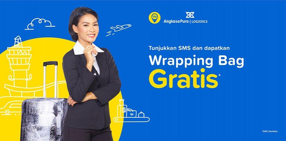 Beli Tiket Pesawat Gratis Wrapping Bagasi