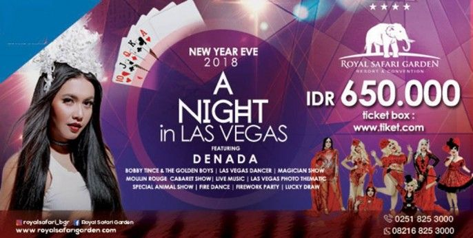 New Year Eve 2018 - A Night In Las Vegas with Denada