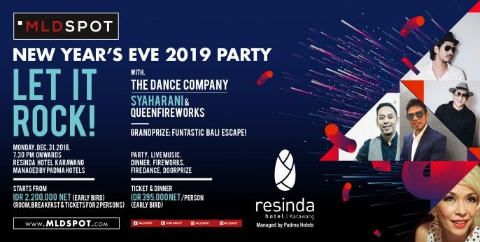 New Year's Eve 2019 Party - Let It Rock at Resinda Hotel Karawang
