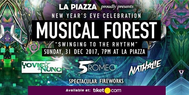 New Year's Eve Musical Forest Swinging to The Rhythm