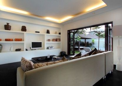 Nunia  Boutique Private Villas Ruang Tamu