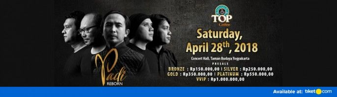 harga tiket PADI Reborn Exclusive Concert DEMI CINTA Yogyakarta 2018