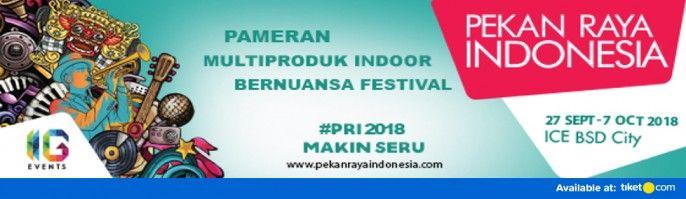 harga tiket Pekan Raya Indonesia 2018
