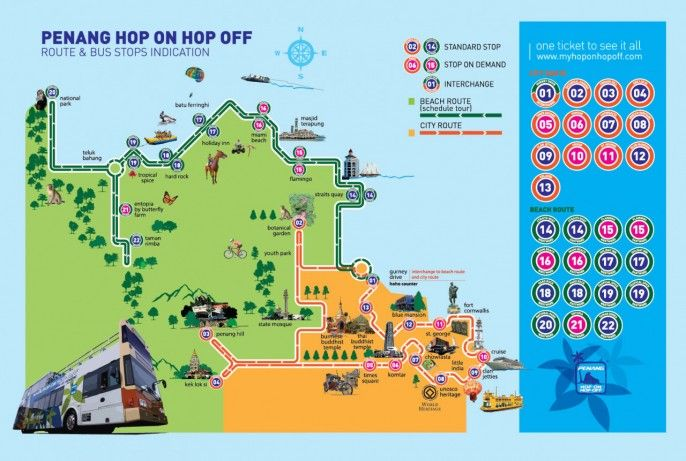harga tiket Penang Hop-on Hop-off Bus Sightseeing Tour
