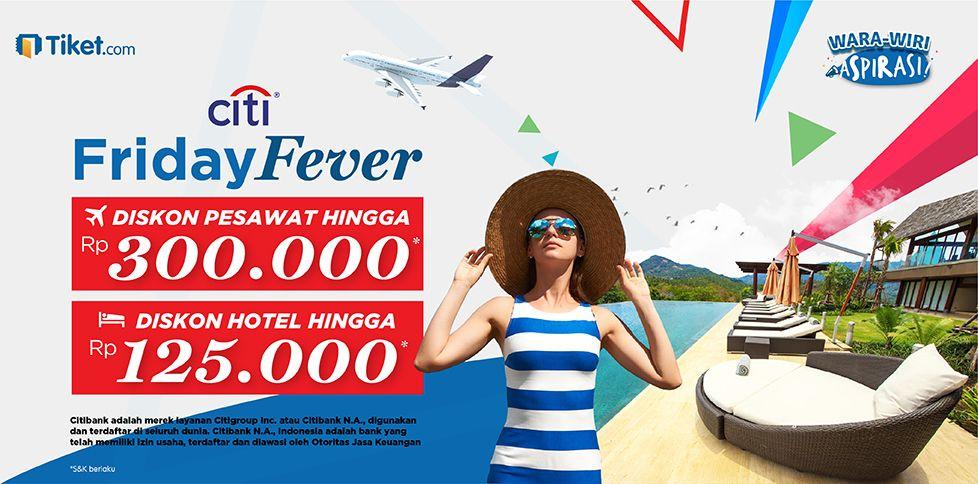 Promo Kartu Kredit CITI Diskon pesawat & hotel