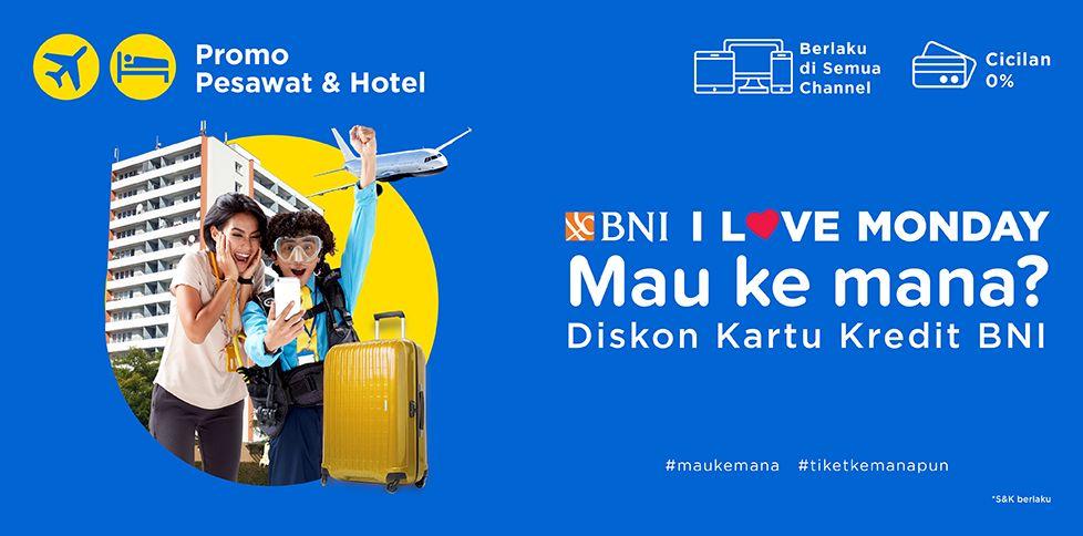 Diskon Tiket Pesawat & Hotel Total 775 ribu Dengan BNI