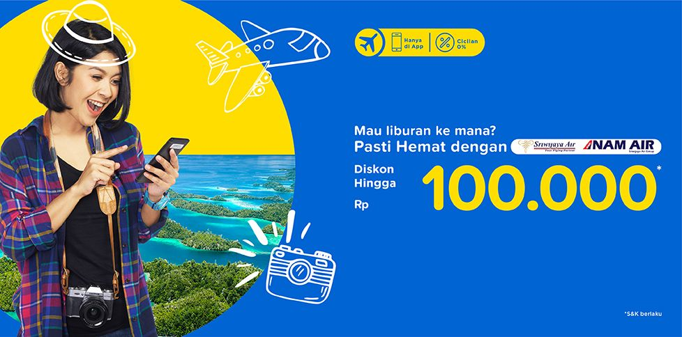 Cari Tiket Pesawat Murah Maskapai Sriwijaya Rp 100.000