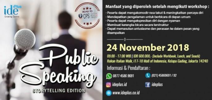 Public Speaking - Storytelling Edition 2018
