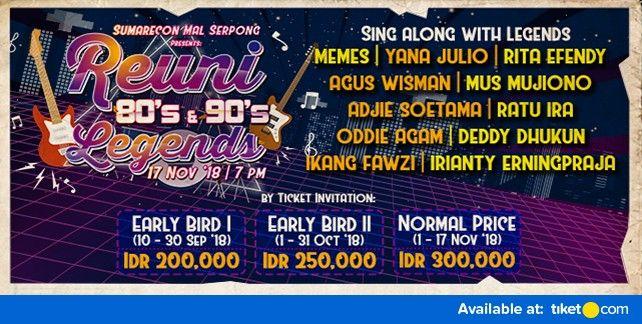 Reuni 80s & 90s Legend 2018