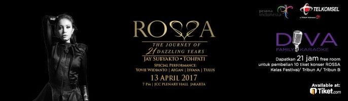 harga tiket ROSSA The Journey of 21 Dazzling Years