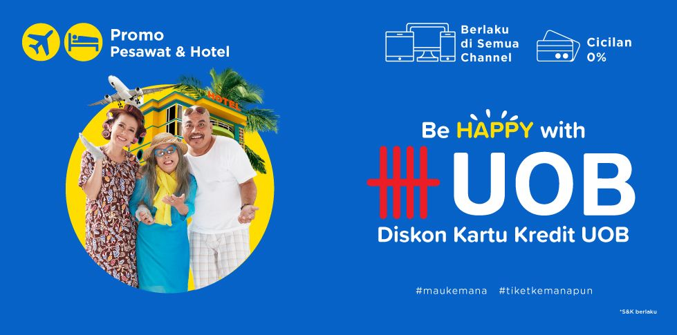 Diskon Pesawat dan Hotel Murah bersama Bank UOB