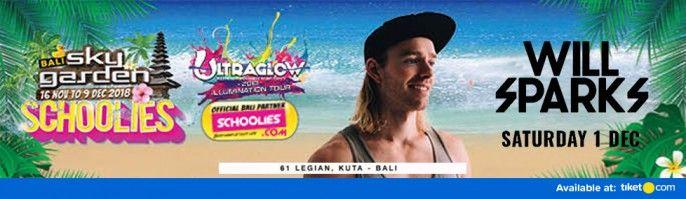 harga tiket Will Sparks at Sky Garden Bali 2018