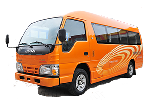 Sewa mobil Isuzu ELF Van 14 di Bekasi